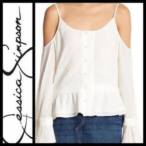 💥Jessica Simpson cold shoulder blouse